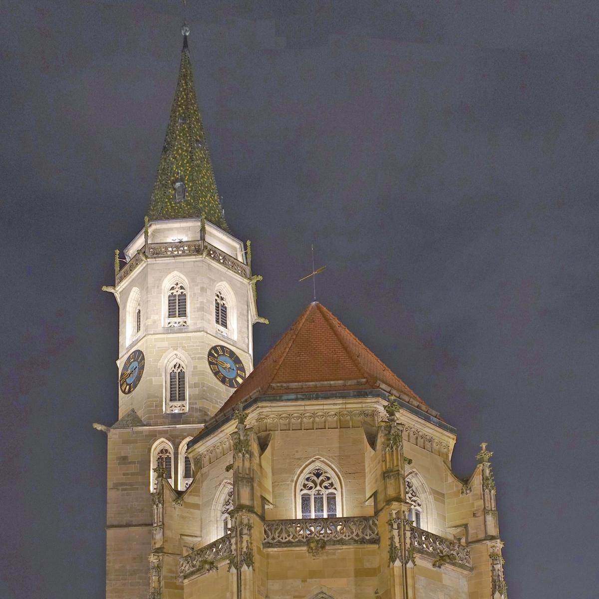 Stadtkirche Schorndorf - Außeninszenierung einer spätgotischen Kirche