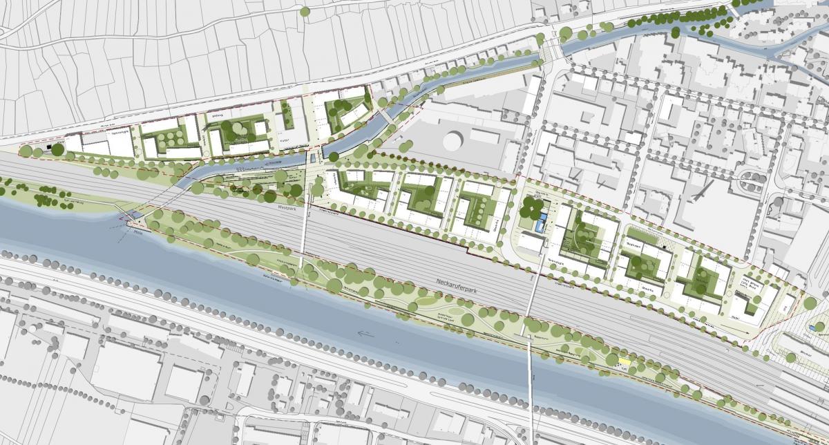 Neue Weststadt in Esslingen, Städtebaulicher Entwurf  2011