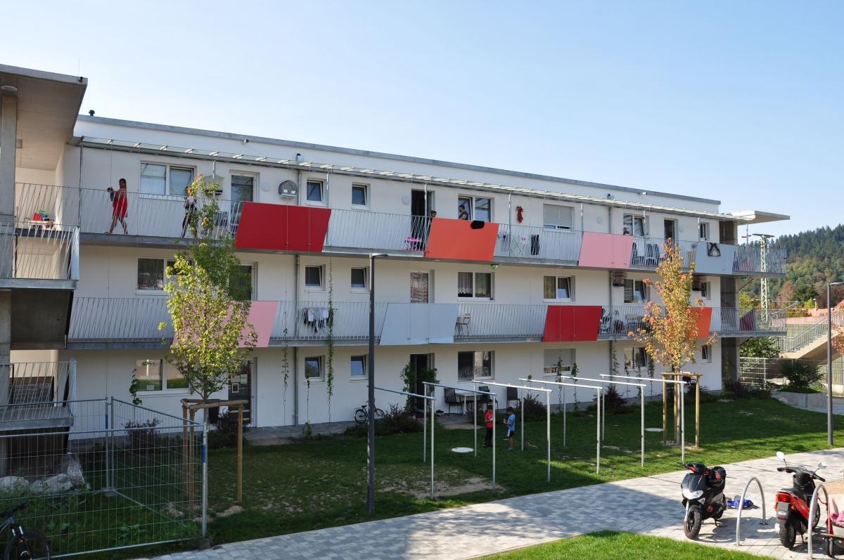Flüchtlingswohnheim Freiburg Hammerschmiedstraße Bauteil A