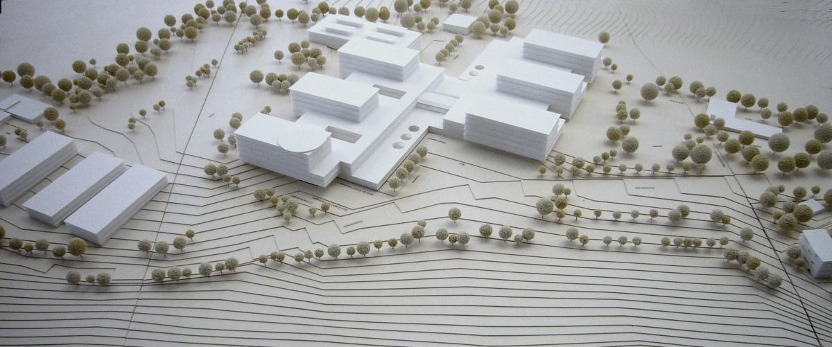 Städtebaulicher Entwurf zum Neubau der Fils-Alb-Klinik in Göppingen 2013-2014