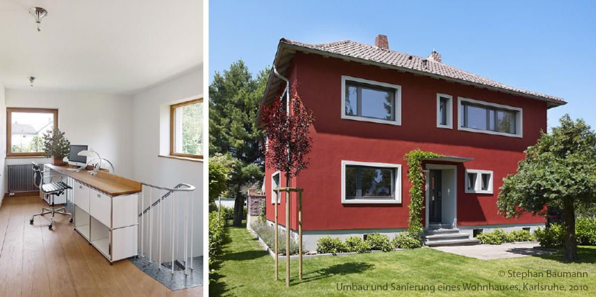 Umbau und Sanierung eines Wohnhauses, Karlsruhe.