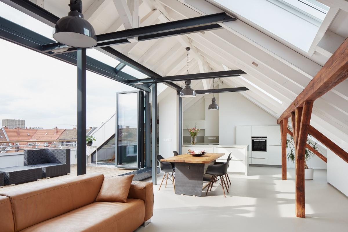 Ausbau einer Dachgeschosswohnung zur Maisonette, Karlsruhe (in Kooperation mit baurmann.dürr architekten, Karlsruhe)