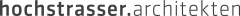 Logo hochstrasser.architekten