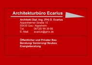 Logo Archtekturbüro Ecarius